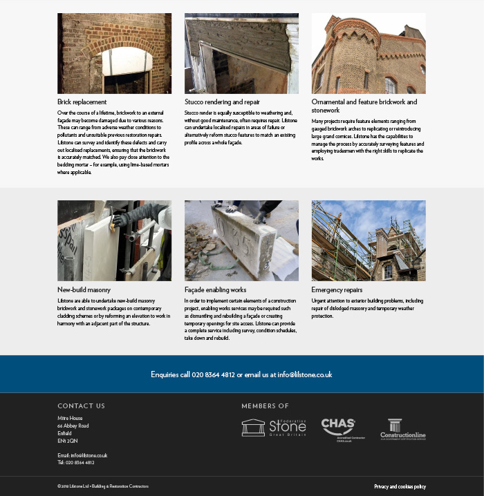 Lilstone Ltd restoration webpage
