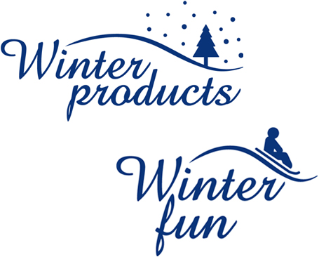 Winter product logos
